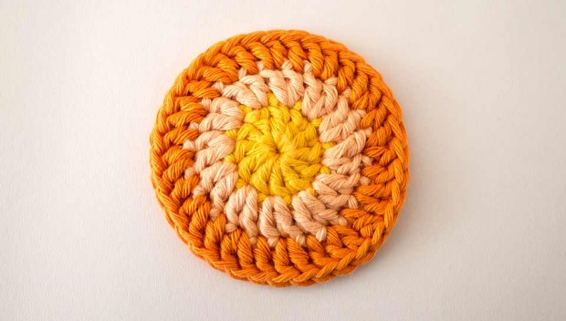 crochet circle round three