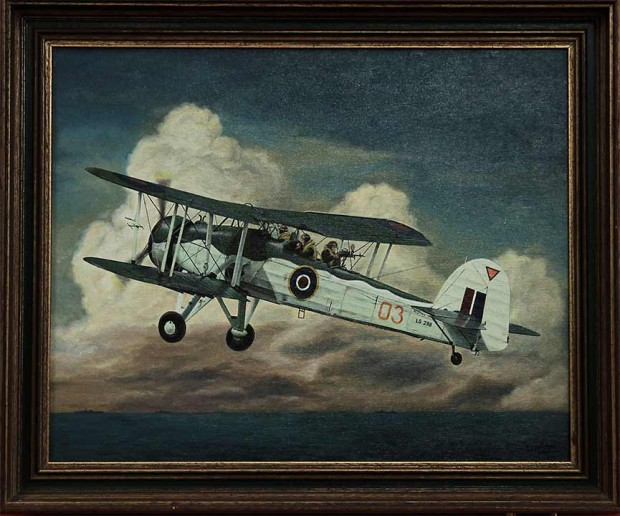 bert olsder airplane painting