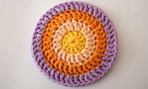 crochet circle mandala round four